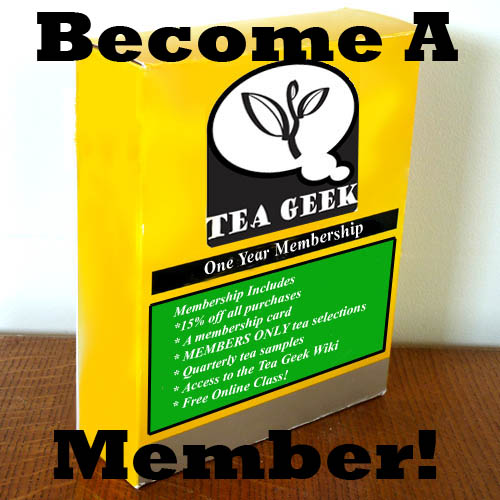 Become a member of Tea Geek!