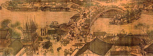 Detail of Along the River During the Qingming Festival